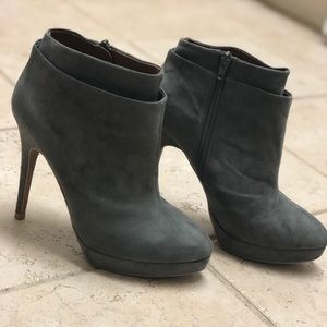 Zara Grey Suede Ankle Boot
